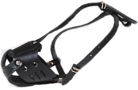 Leather Safety Dog Muzzle No Barking, Biting Or Chewing M51
