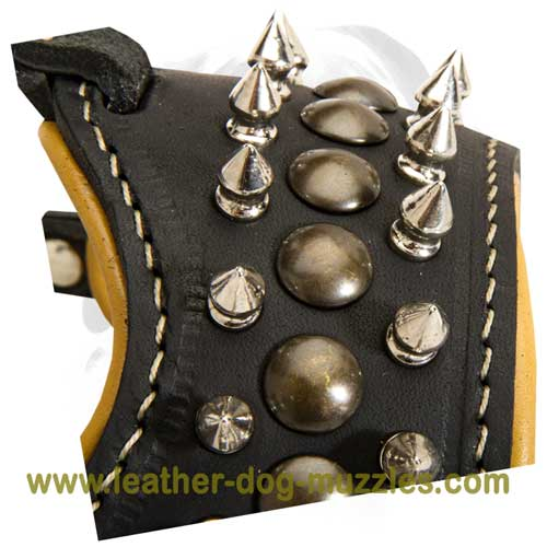 Leather muzzle for obedience training