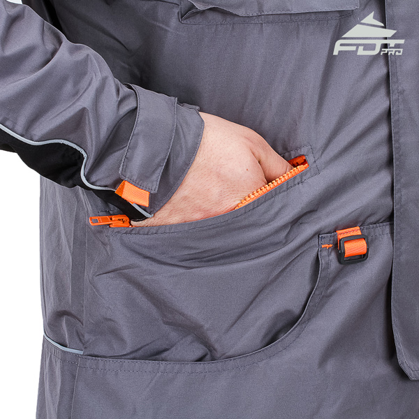Grey Color FDT Pro Jacket with Comfy Side Pockets