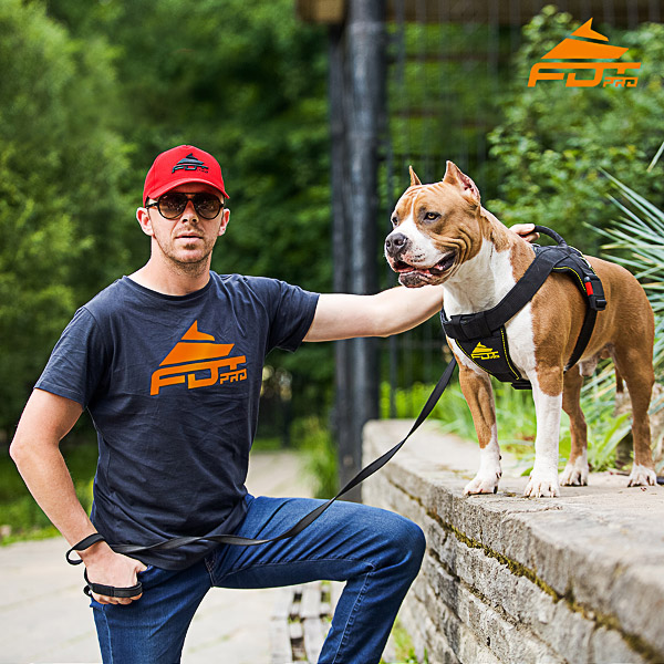 Men T-shirt of Durable Cotton with Logo for Dog Training