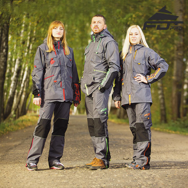 Strong Dog Trainer Suit for Any Weather with Reflective Trim