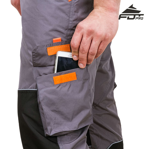 Professional Design Dog Training Pants with Comfortable Velcro Side Pocket